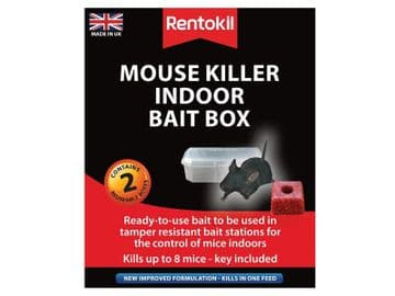 Mouse Killer Indoor Bait Box (Twin Pack)